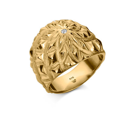 John Ring in Gold with brillian