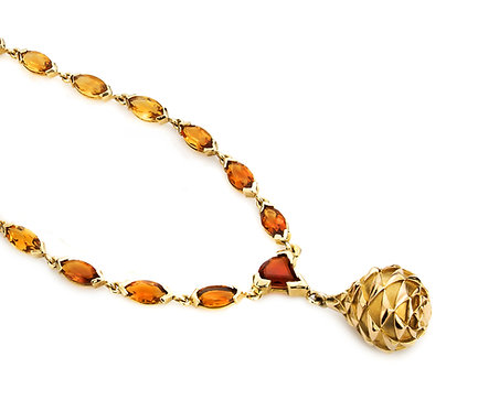 Vasily Necklace in Gold with Citrine