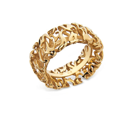 The Bonfire Ring in Gold