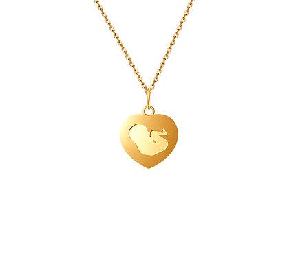 Mãe do Coração Pendant in Gold