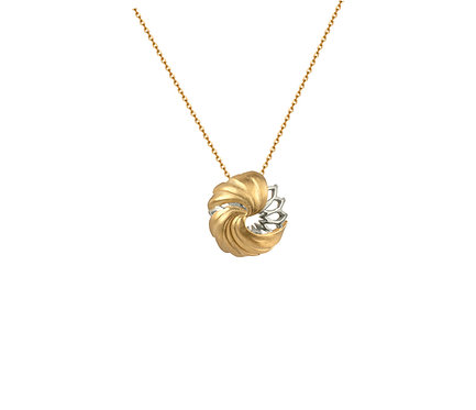 Dome Necklace in Silver or Gold Plated