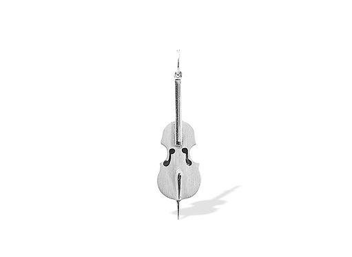 Violoncelo Pendant in Silver or Gold Platead Silver