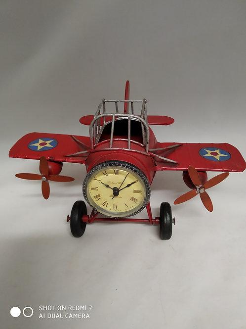 decorazione metallo elicottero con orologio