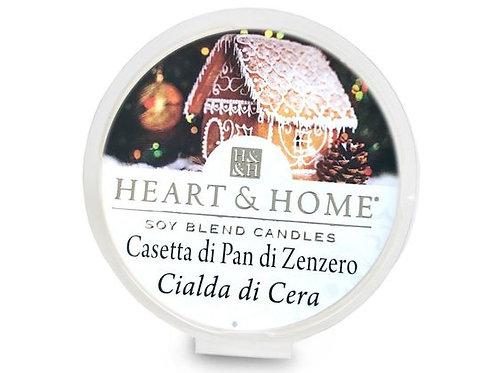 HEART & HOME CANDELE CASETTA DI PAN DI ZENZERO 340 GR