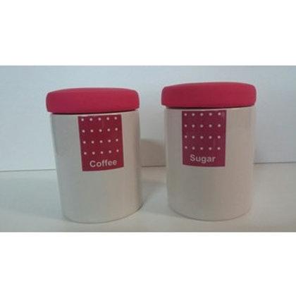 Set 2 barattoli in ceramica da caffè/zucchero ...