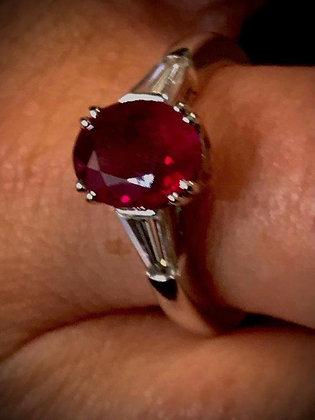 """Anello di gioielleria con rubino """"solitario"""""""