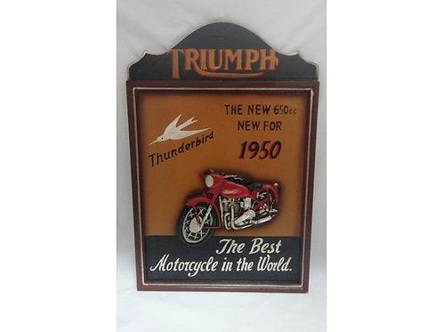 QUADRO LEGNO MOTO TUNDERBIRD 1950 - 61 X 40