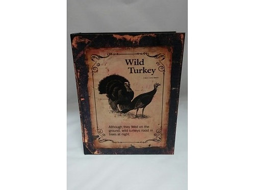 SCATOLA LIBRO WILD TURKEY