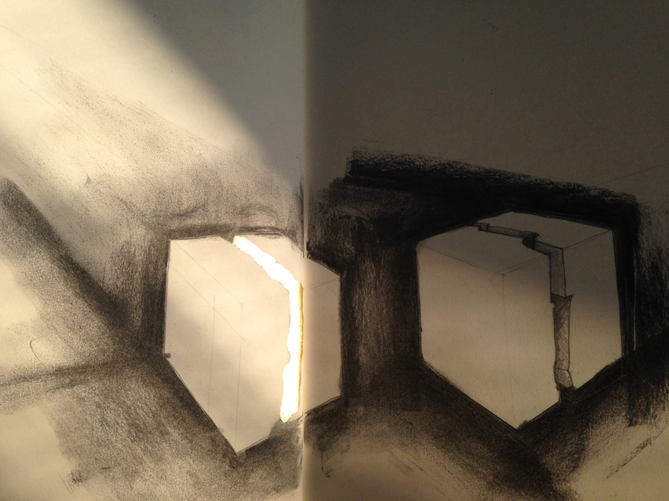 Study, 2017,  Study for Inside, activated by sunlight