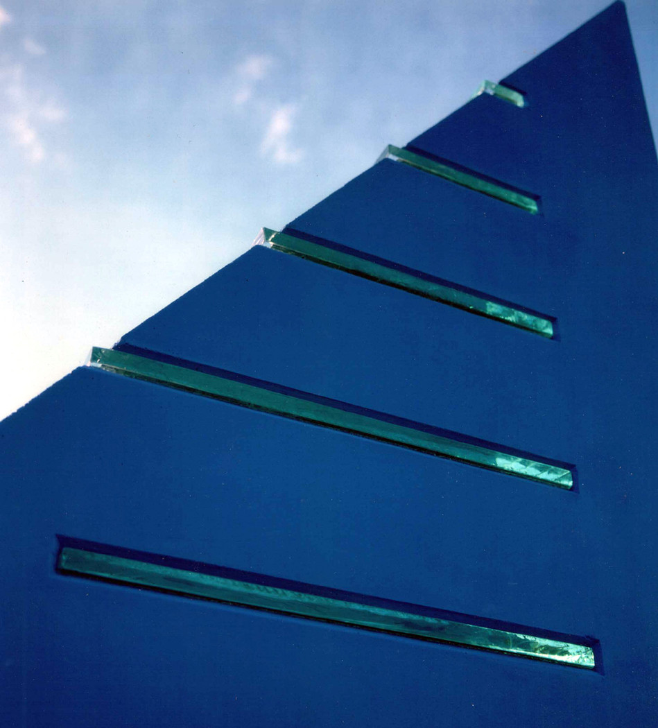 Sundial, detail showing glass inserts