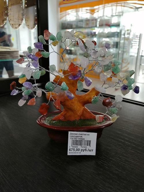 Дерево счастья из самоцветов