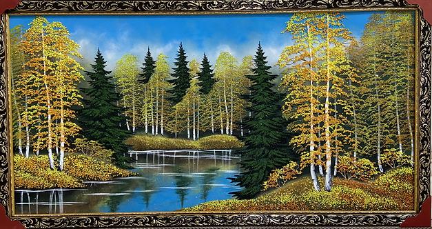 """Панно в багете """"Осень"""", 67х127см"""