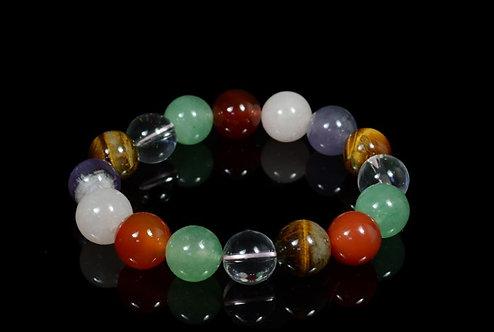 Браслет шарик 12мм из самоцветов