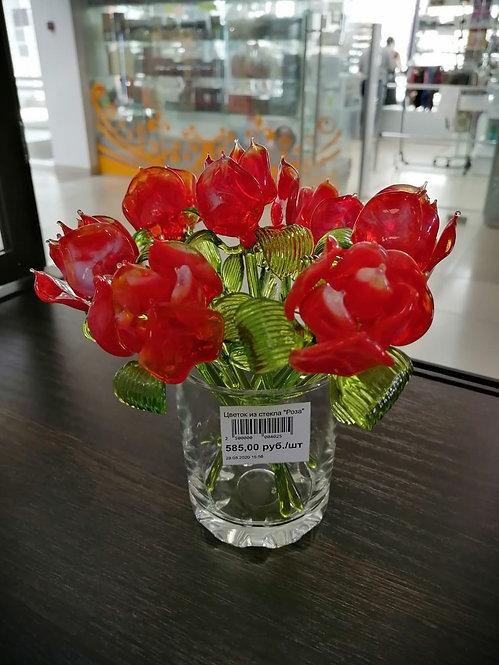 """Цветок из стекла """"Роза"""""""