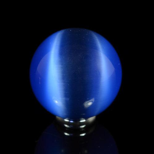 Шар из кошачьего глаза 47-50мм, цв.синий
