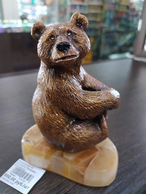 """Композиция на селените """"Медведь-стесняшка"""""""