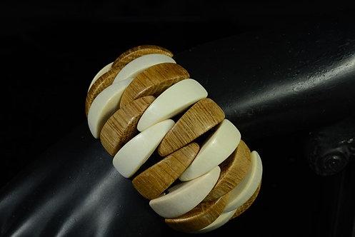 Браслет из дерева Зубки Полоса, ширина 40мм