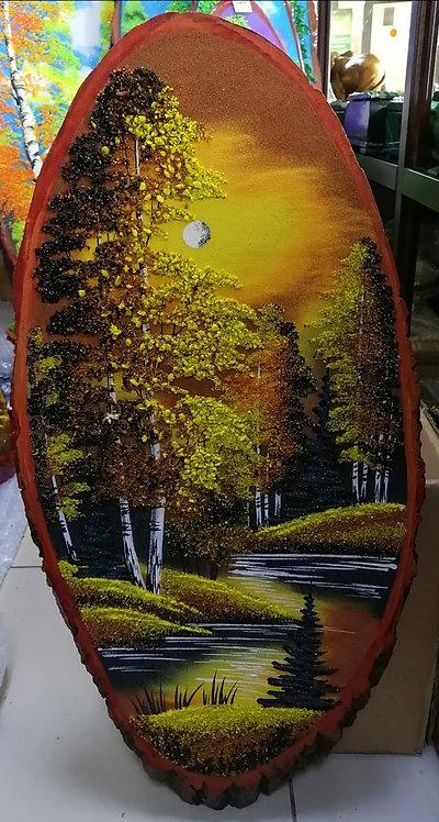 "Спил дерева ""Осень"", 60см"
