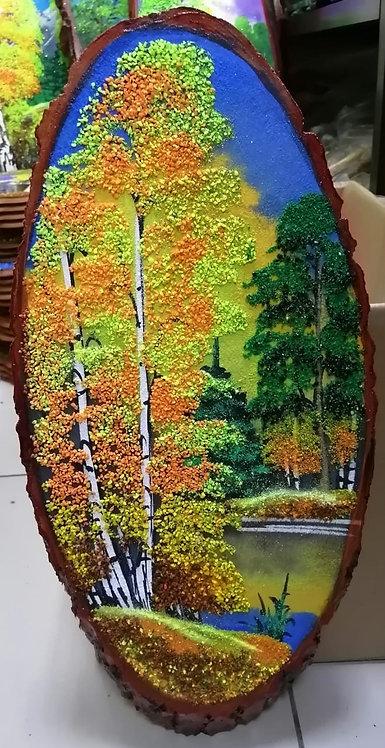 "Спил дерева ""Осень"", 45см"