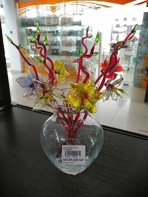 """Цветок из стекла """"Орхидея"""""""