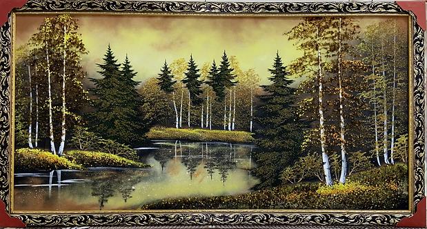 """Панно в багете """"Осень"""", 60х120см"""