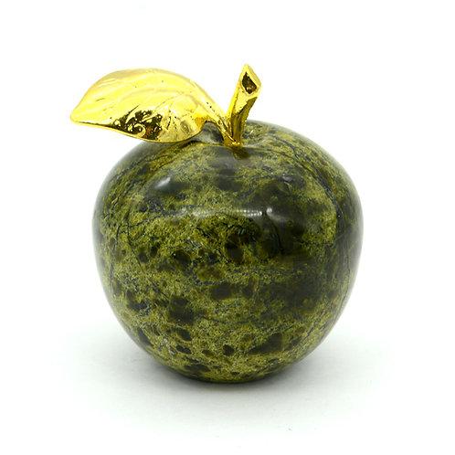 Яблоко из змеевика, 60*60*65мм