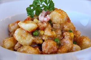 Gnocchis de pommes de terre aux crevette