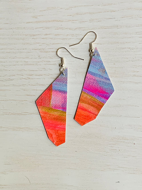 Bright & Bold Canvas Earrings