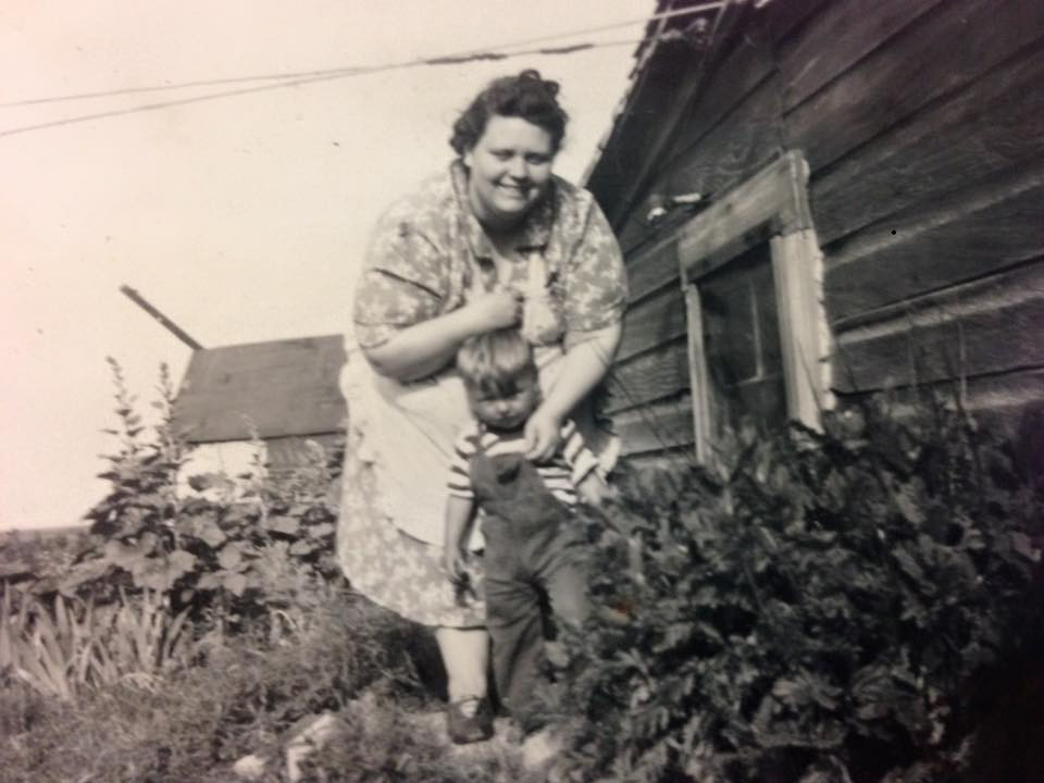 My Grandmother Margaret with my Uncle Bob. Year?