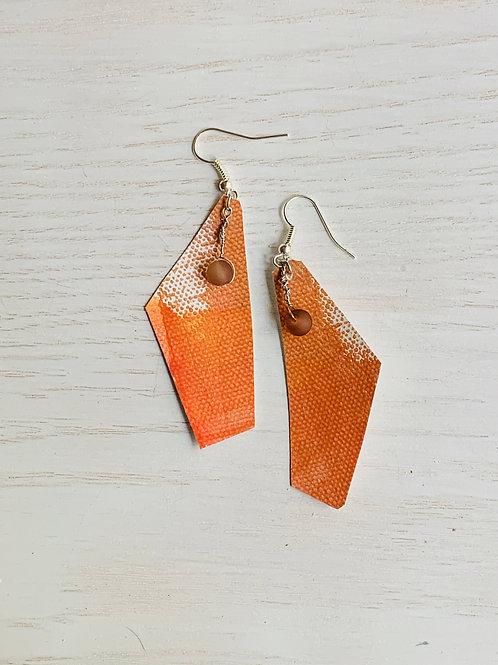 Orange Canvas Earrings