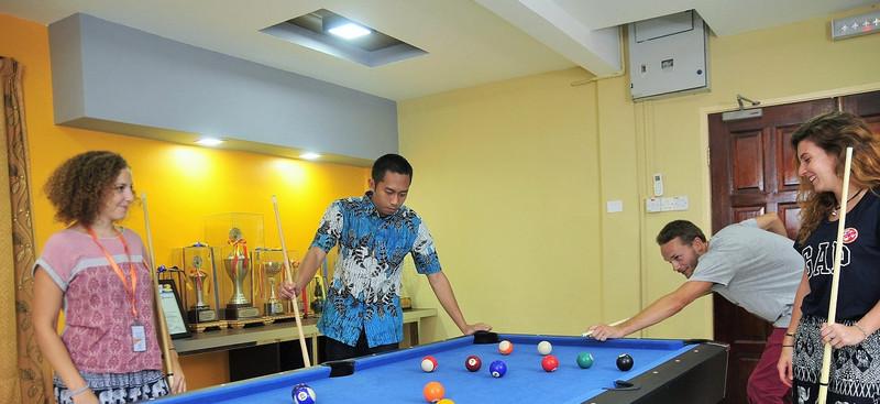 Leasure activities on campus