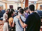 Brenna with prayer group in Trinidad 202