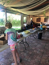 Bailey packing back packs in Costa-Rica