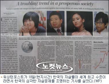 한국 하루 평균 35명 자살