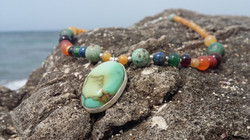 Gemstone Necklace Turquoise pendant