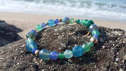 blue agat bracelate