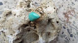 Turquoise GemStone Brass ring