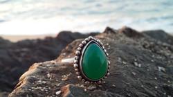 onyx Gemstone silver ring