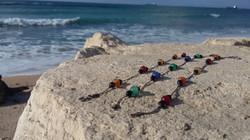 colorful agat bracelate