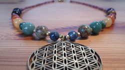 Chakra necklace Flower of Life