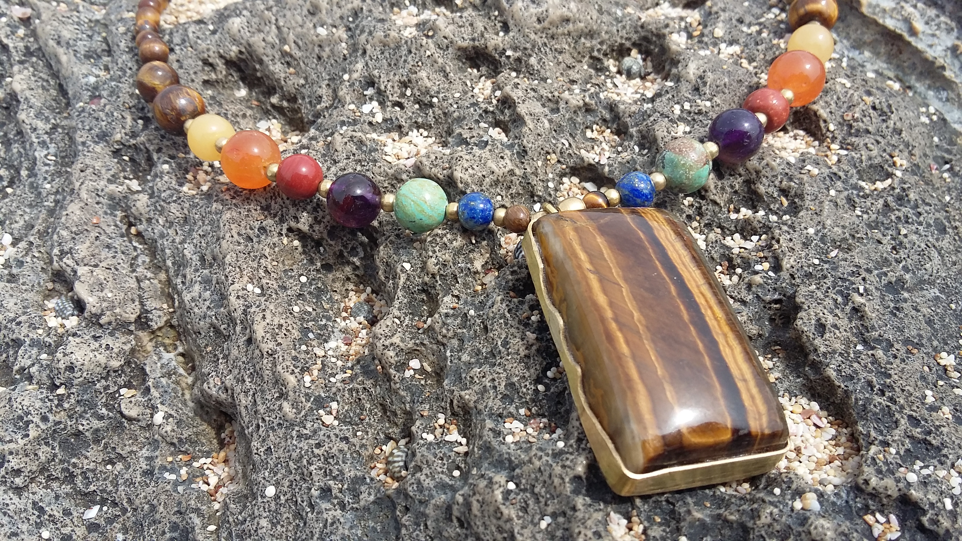 Crystals Necklace Tiger eye
