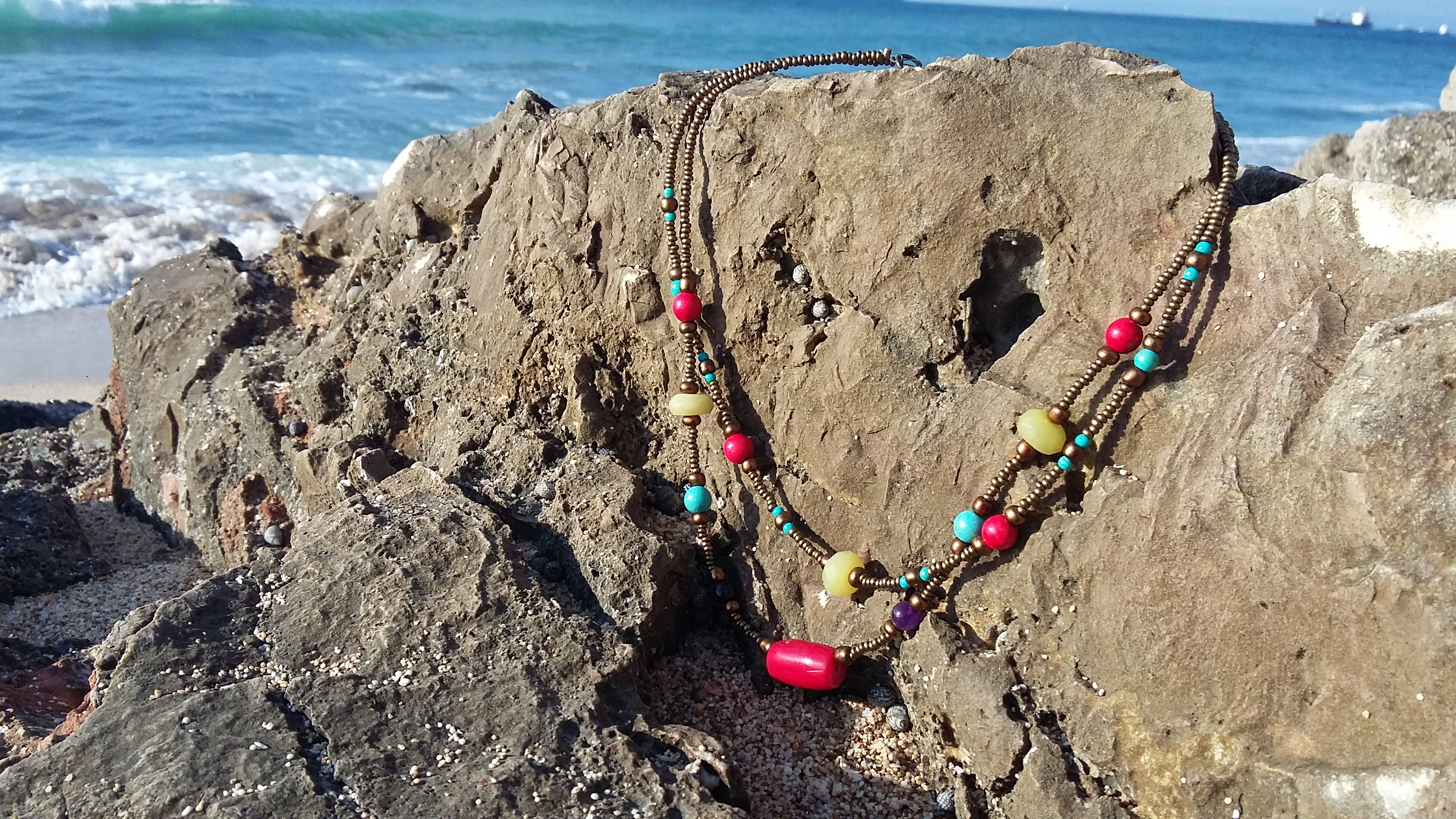 indian colors beads necklace