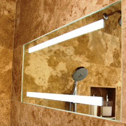 ShowerLite ClearMirror is a fog free and LED lighted mirror for shaving in the shower