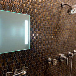 ShowerLite ClearMirror is a lighted and fog free mirror for shaving in the shower