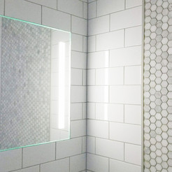 ShowerLite ClearMirror is a fog free mirror with lights for shaving in the shower