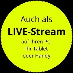 Auch als LIVE-Stream auf Ihren PC, Ihr T