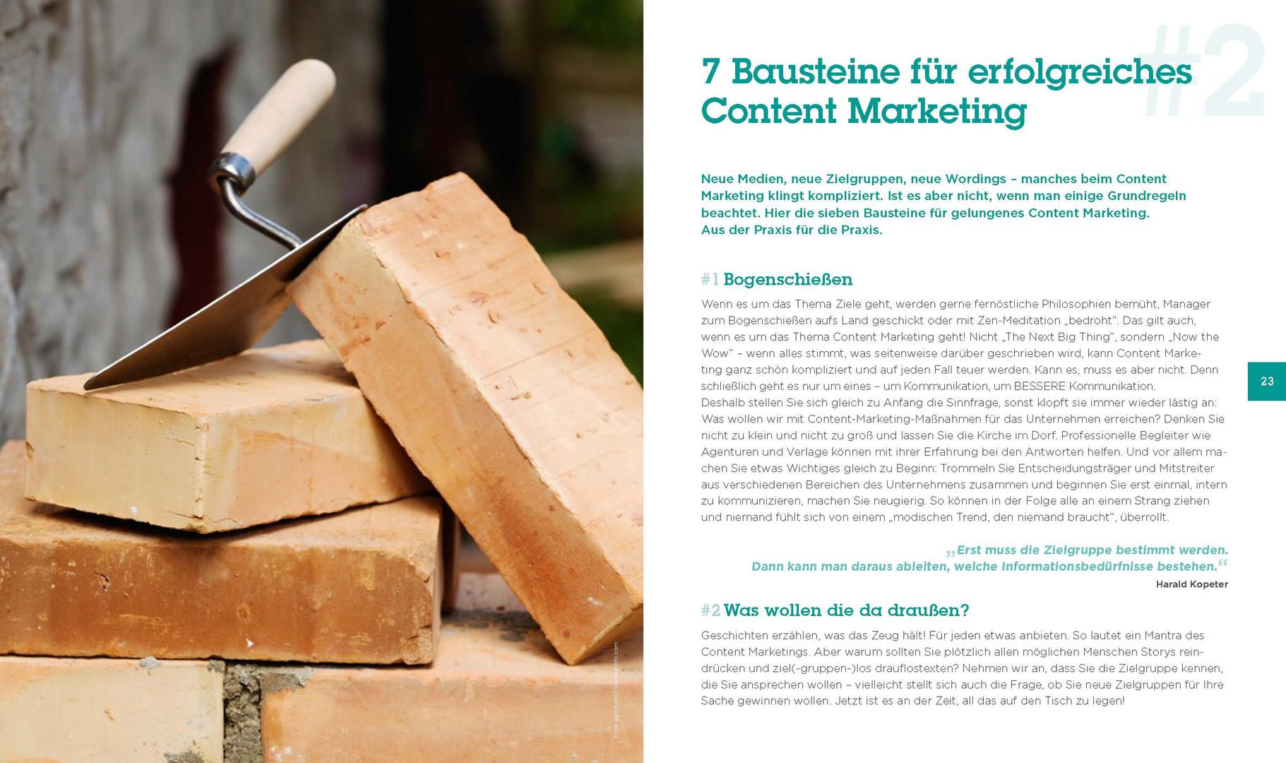 Fresh Content - Die 7 Bausteine