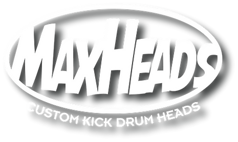 MAXHEADS_custom kick drum heads (white w