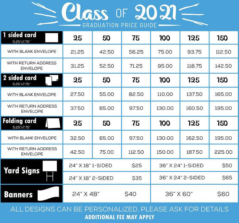 Maximum Printing & Graphics 2021 Graduat