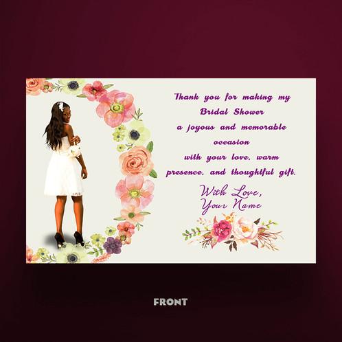 bridal shower thank you card design
